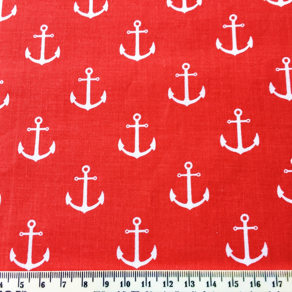 Pink Anchor Fabric