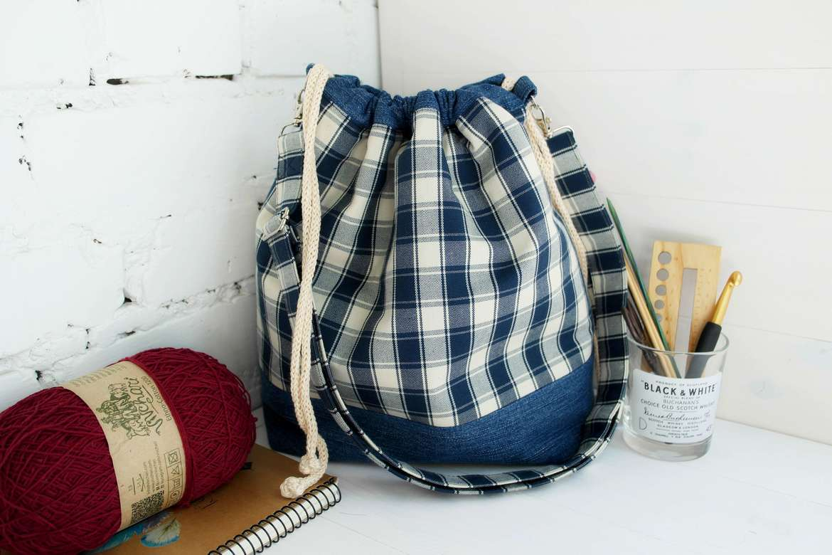 Knitting Project Bags Crochet Yarn Storage Bags For Knitting Supplies