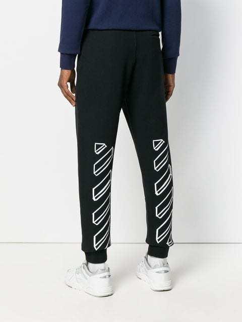 4b6b5506 Все товары > OFF-WHITE зауженные спортивные брюки с графическим ...