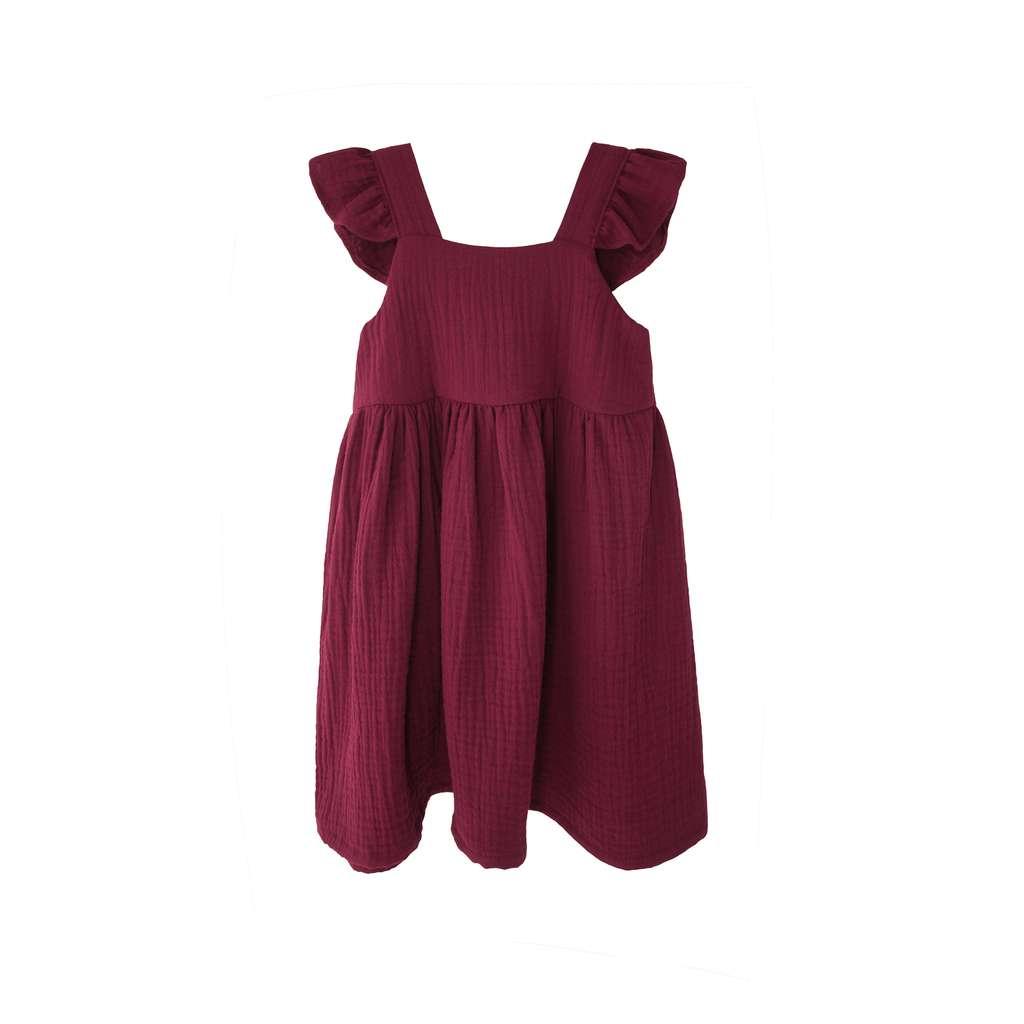 58193c57fbd Одежда   Сарафан из муслина в цвете марсала купить в интернет-магазине