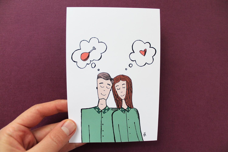 Открытка паре влюбленной