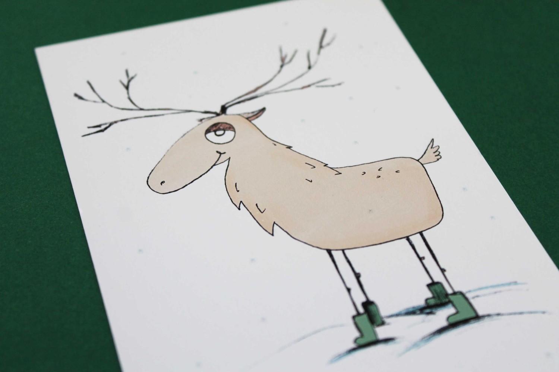 Сделать, олень на открытку