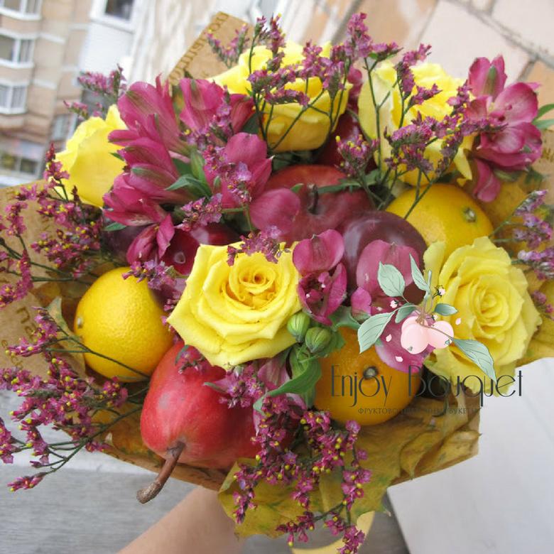 Воронеж круглосуточно, букеты осени из цветов и фруктов екатеринбург