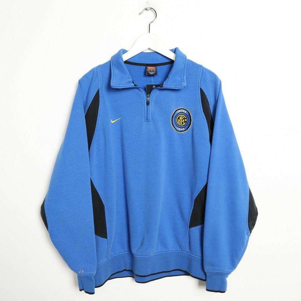 29220b45 НОВИНКИ > Винтажная толстовка 90s NIKE Inter Milan 1/4 Zip купить в ...