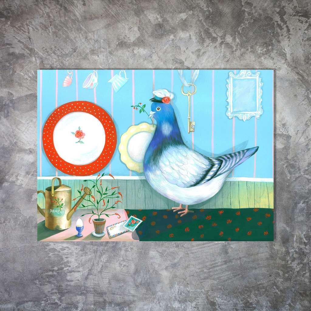 Открытки с почтовыми голубями
